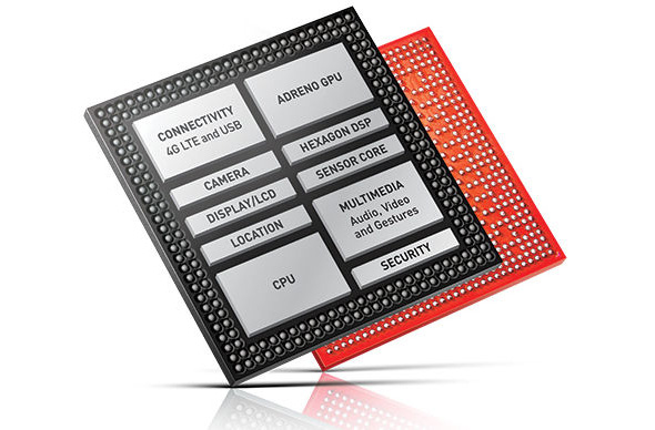 Snapdragon 810 SoC layout