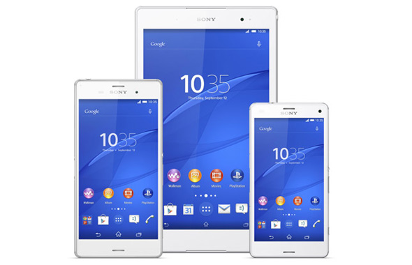 Sony Xperia Z3 familien - Xperia Z3 Tablet Compact, Xperia Z3 og Xperia Z3 Compact