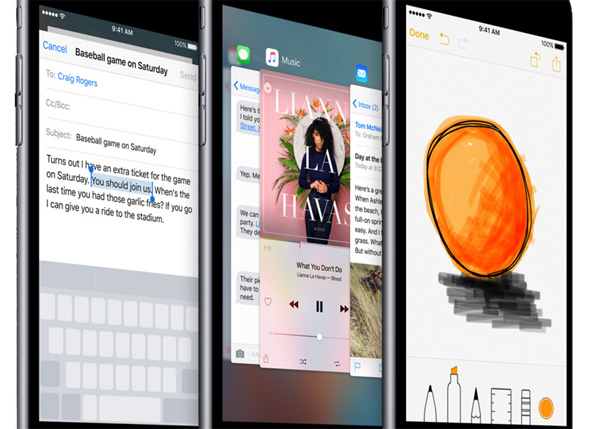 Apple iPhone 6s og 6s Plus 3D Touch funktioner i iOS 9