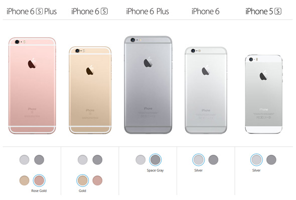 iPhone farver 2015