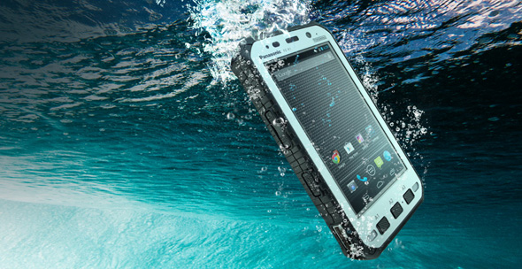 Panasonic Toughpad FZ-X1 i havet