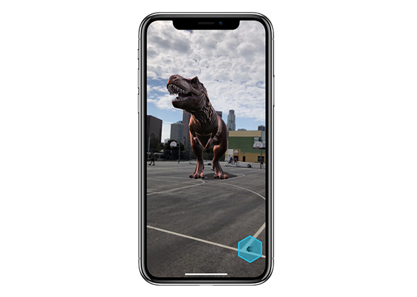 iPhone X med augmented reality