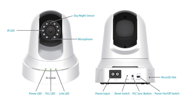 D-Link Powerline HD Day/Night Cloud Camera features