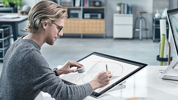 Microsoft Surface Studio og Surface Dial
