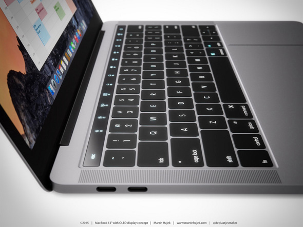 MacBook med OLED touch panel koncept af Martin Hajek