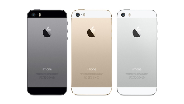 iPhone 5S i tre farver