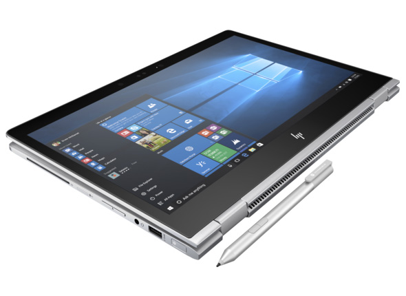 HP EliteBook x360 1030 G2 tablet mode med Active Pen