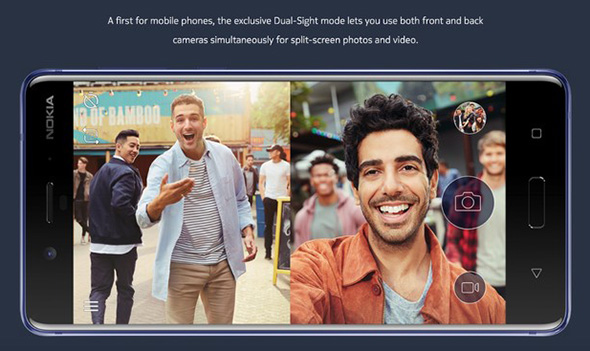 Nokia 8 Dual-Sight funktion
